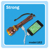 Emergency LED power bank flashlight zoomable with hand line