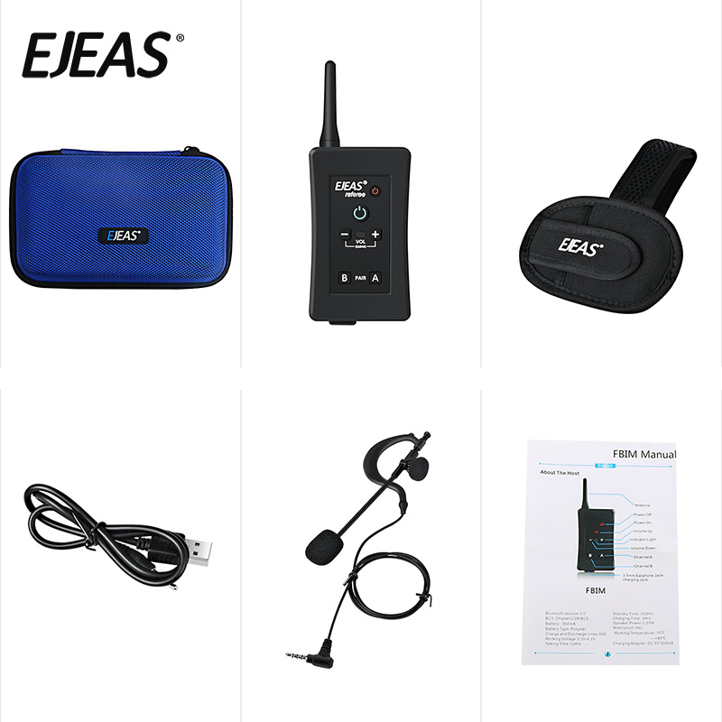 full duplex bluetooth referee communication intercom walkie talkie
