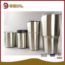 2016 vacuum food grade stainless steel coffee mug with lid