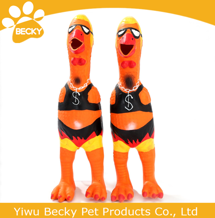 Rubber Chicken For Dog Toy Rubeer Pet Product For Sale Dog Squeaky Toy