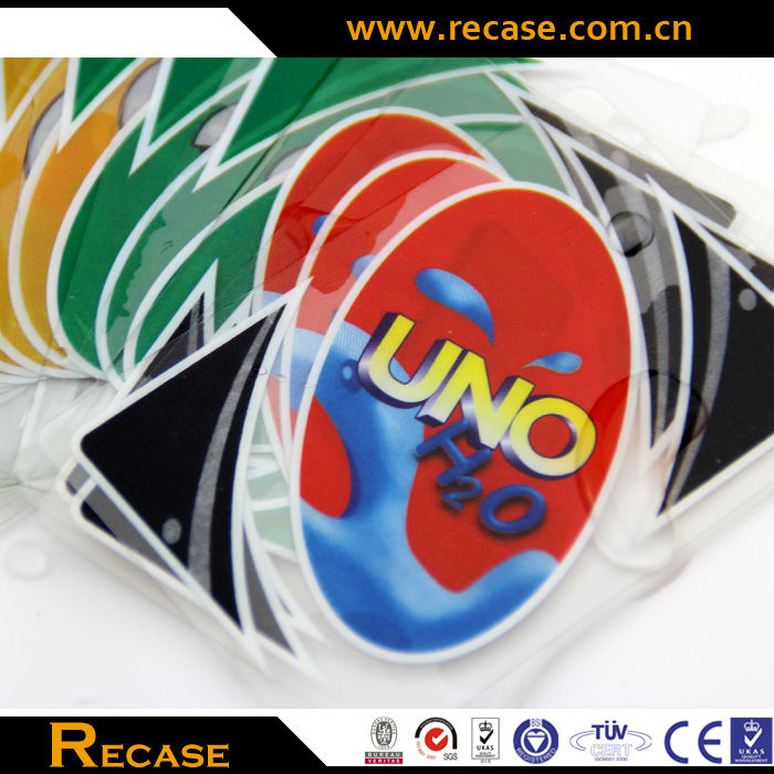 Printing Services Custom Plastic Waterproof Poker Card Wholesale Advertising Colorful Promotional Playing Cards