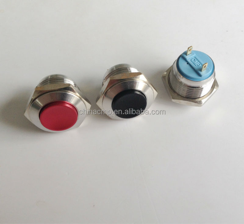 CMP 16mm metal colorized electric momentary pushbutton switch (red,green,yellow,blue)