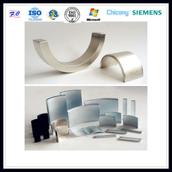 high quality and good performance rare earth arc neodymium magnets tile shape