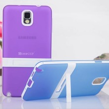Frosted pc tpu plastic stand belt clip holster case cover for samsung galaxy note 3 made in China
