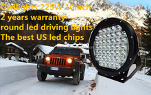 96w 185w 225w round led driving lights,arb 4x4 led wrangler spot light round led offroad 225w 10inch 9inch