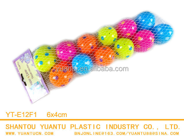 12pcs/bag Plastic eggs 6x4cm Polka dot printed Easter Egg