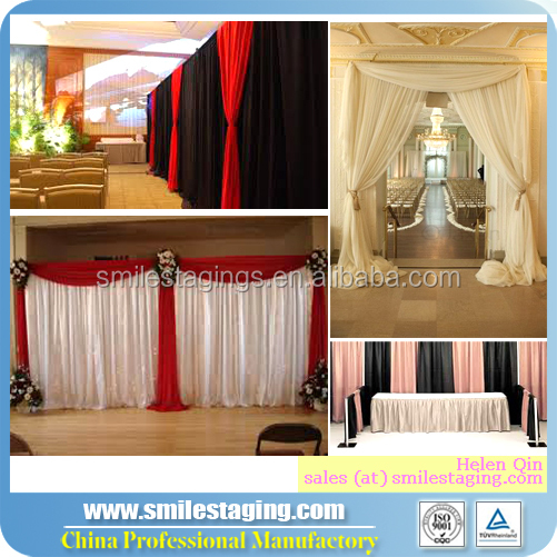 wedding ceiling drape fabric, chiffon drape for wedding decoration