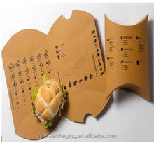 Customized pillow box burger box paper packaging