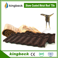 High quality aluminum zinc plate colorful stone coated metal roofing tile/wholesale China stone coated steel roofing shingles