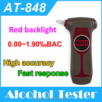 electric shock gadgets alcohol meter Advanced flat surfaced alcohol sensor with red backlight and CE ,ROHS certificates