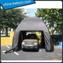 large outdoor inflatable car garage tent/ giant black inflatable tent
