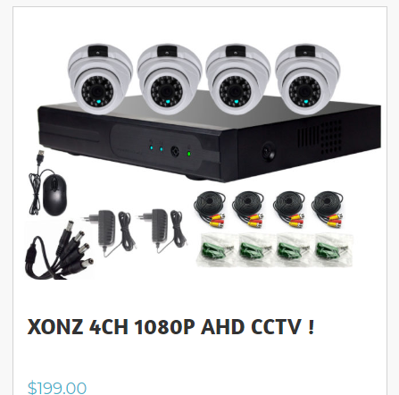 The newest price  CCTV security  system  outdoor  4CH  AHD camera and DVR  Kit