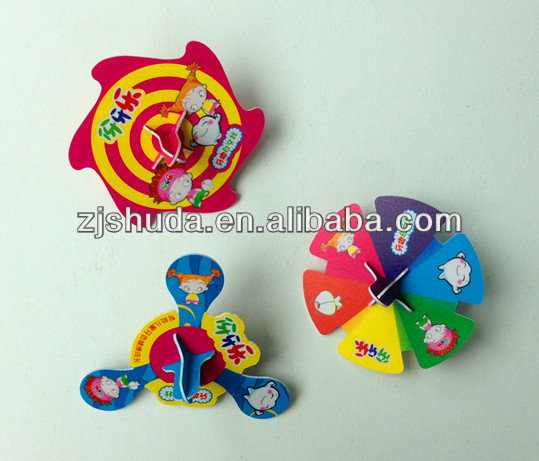 Promotional spinning top puzzle card/moving 3d puzzle/round shape puzzle