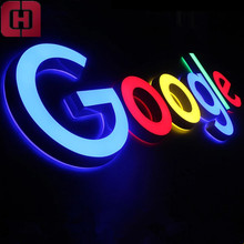 Double side illuminated acrylic alphabet letter sign mini led channel letters for decoration