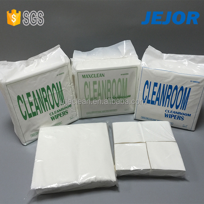 Industry Woodpulp nonwoven cleanroom spunlace cellulose roll wipes