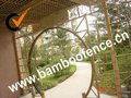 natural bamboo gate for garden decoration