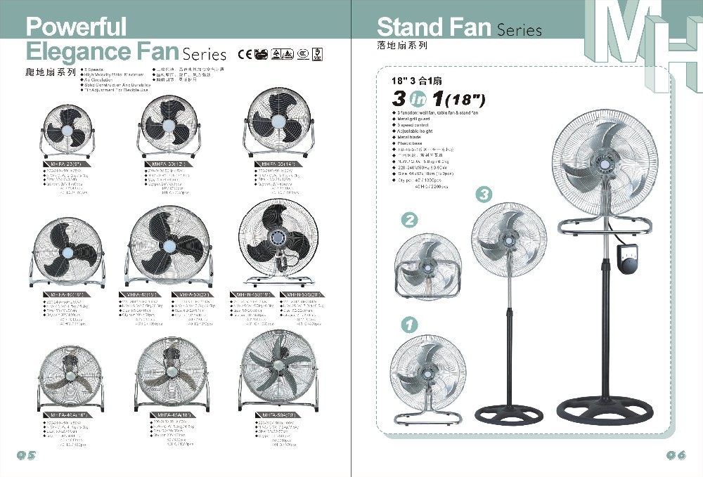 chinese 18 inch Metal electric Standing Fan