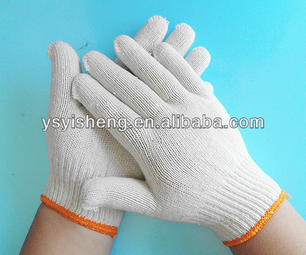 7 gauage natural white garden white cotton gloves light