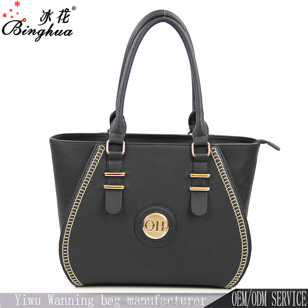 Ladies Elegance Low Price PU Leather Bag Black Women Bags Handbag Fashion