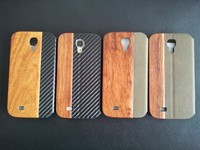 for samsung galaxy s4 flip wood case oem quality leather cover for samsung s4 and s4 mini carbon fiber case for samsung S4