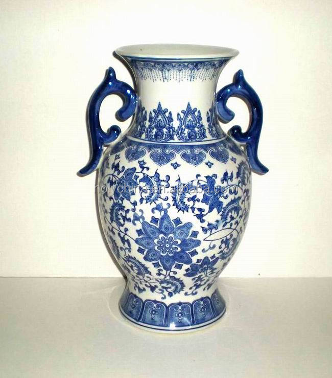 hot sale high quality custom made blue and white porcelain vase