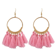 D1218 Women Jewelry Gifts Boho Fringe <strong>Earring</strong> Vintage Ethnic Tassel <strong>Earrings</strong>