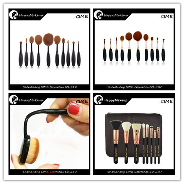10 pcs Foundation oval multi-purpose makeup brush with opp bag