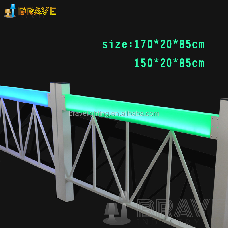PE material strong, durable, long lifespan garden Colorful lighting led railings
