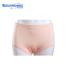 100%cotton adult absorbent reusable anti-static incontinence panties lady underwear