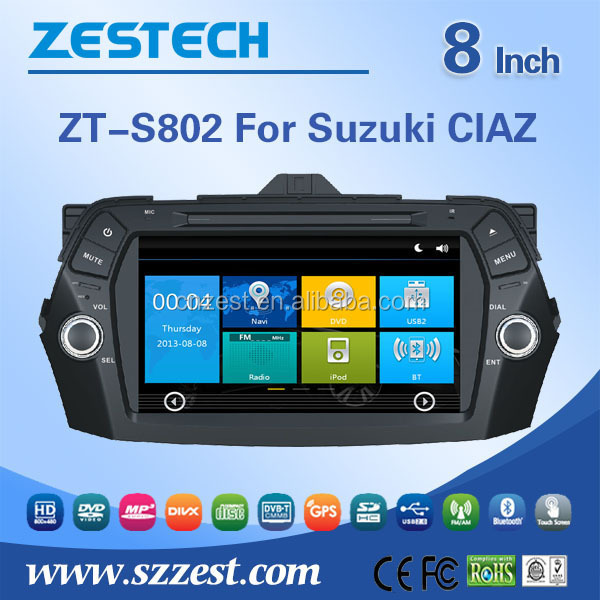 For Suzuki CIAZ car dvd player gps navigation+SD card with India map+rear camera+free shipping