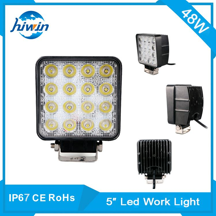 48w high lumens led working lamp 6000k cold white 12v led truck work light for marine boat