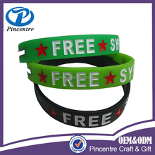 Custom made wholesale syrian country flags silicone bracelet