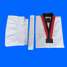 WTF martial arts cotton customized embroidery logo taekwondo uniform