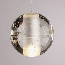 wholesale clear crystal christmas glass ball sphere with hanging wire for lamp fitting