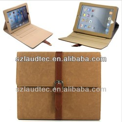 for ipad air book case, fashion leather case for ipad 5
