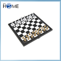 Antique Wooden Mini Magnetic Chess Game Table Board Set Play Now