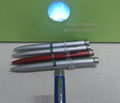Custom logo projector pen promotional pen with flashlight