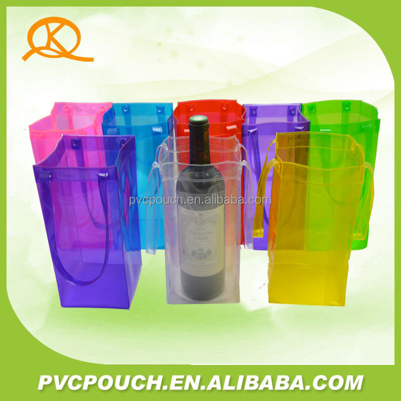 Clear plastic PVC bag ice bucket plastic ice wine bag with different shape