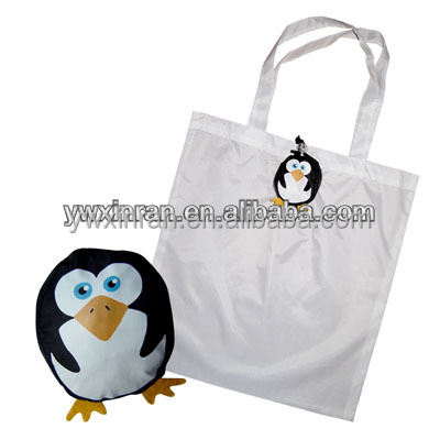 Antique cute cut shape reusable shopping bag folding nylon bag