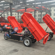 Hydraulic mini dumper, garden mini dumper truck, three wheel cargo motorcycles