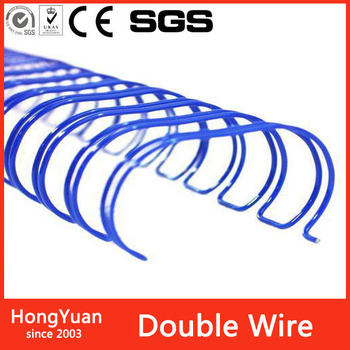 coil diameter 6.4mm filament size 0.70mdouble loop wire spiral o wire , double loop wire notebook , double loop wire o for books