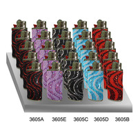Lighter case compatible with mini BIC lighters. Metal and fabric design. USA wholesale