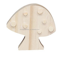 High quality delicate natural pine carved creative wooden craft mushrooms model