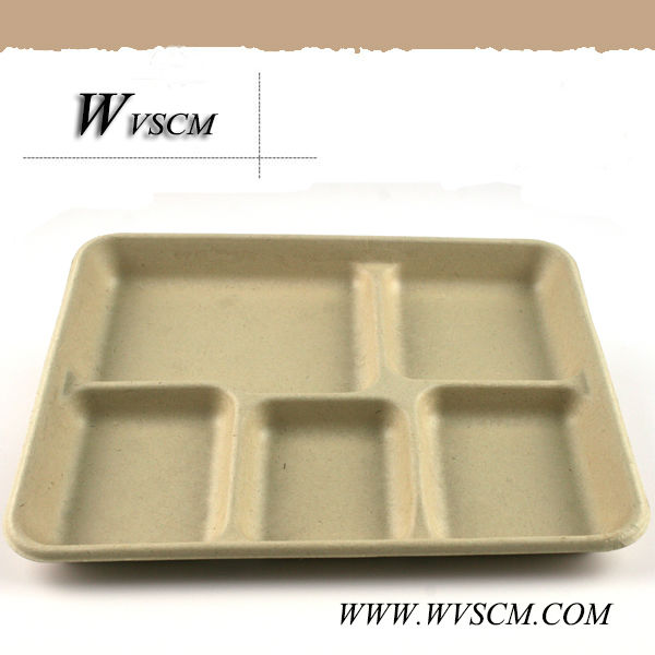 2014 New product compostable biodegradable divided paper plates