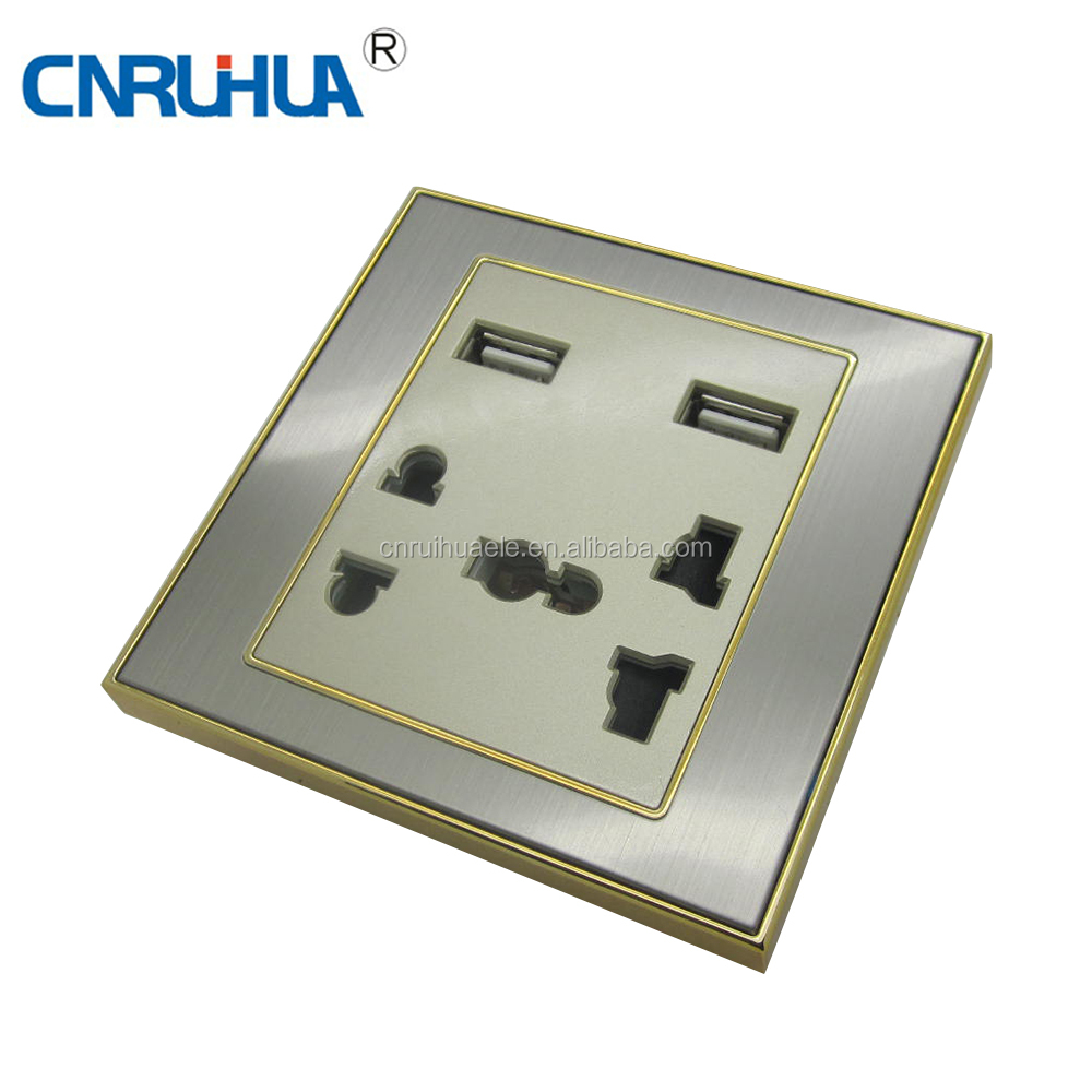 High Quality Whole Sales electrical universal usb wall socket 240v