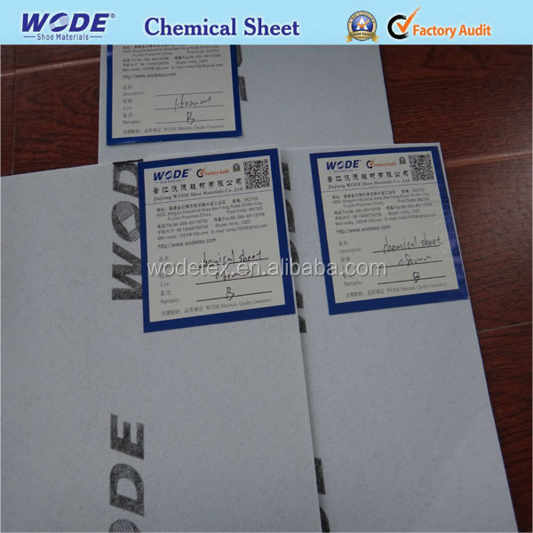 Shoes toe puff and counter material,thermo chemical sheet for textile shoe materials