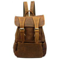 Retail woman Full grain leather and genuine leather backpack