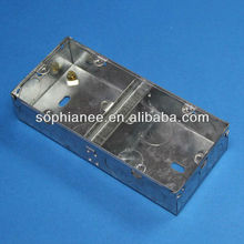 2013 BS standard 2 gang electric metal outlet box size