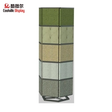 Stone Tile Sample Line Rack Exhibition Display Tower