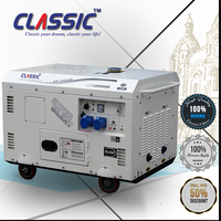 CLASSIC(CHINA) Portable 10KW Silent Electric Generator White Color, Silent Powerful Genset 10kw, Generator Electric 220V 10KW